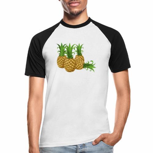 Ananas - Männer Baseball-T-Shirt