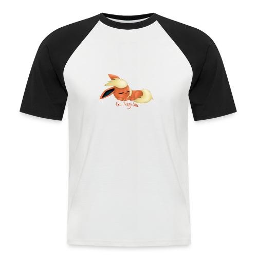 eevee - flareon - the sleppy one - Men's Baseball T-Shirt
