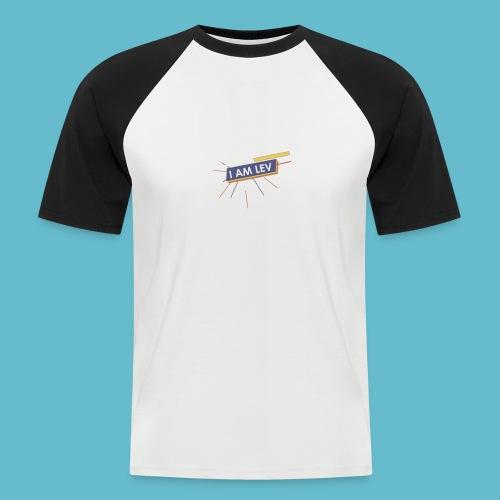 I AM LEV Banner - Mannen baseballshirt korte mouw