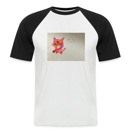 Little pet shop fox cat - Men's Baseball T-Shirt