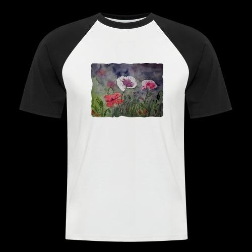 Mohnblume - Männer Baseball-T-Shirt