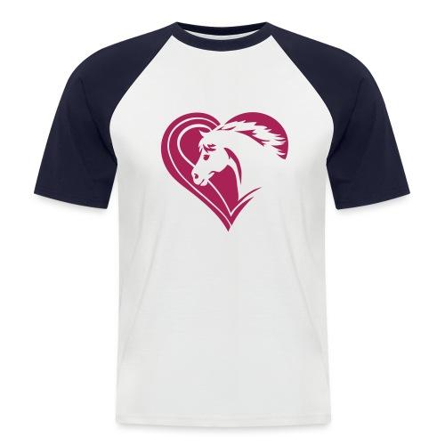 Iheart horses - Männer Baseball-T-Shirt
