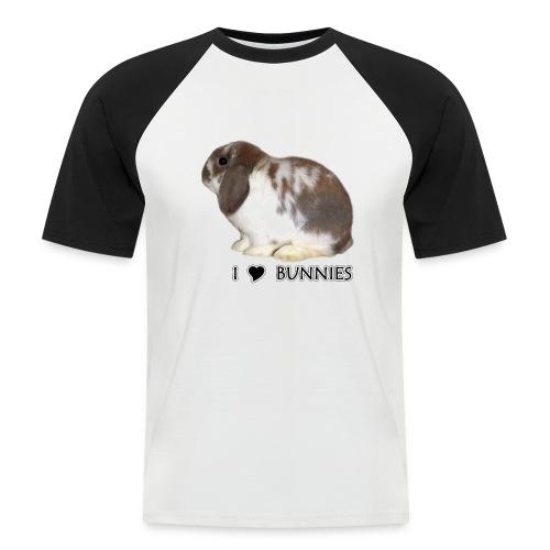 I Love Bunnies Luppis - Miesten lyhythihainen baseballpaita