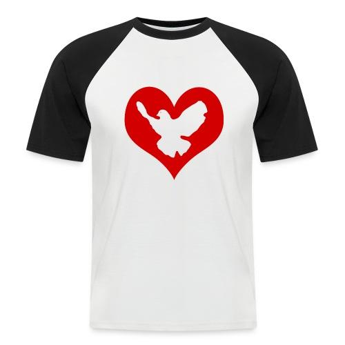 Peace & Love - Männer Baseball-T-Shirt