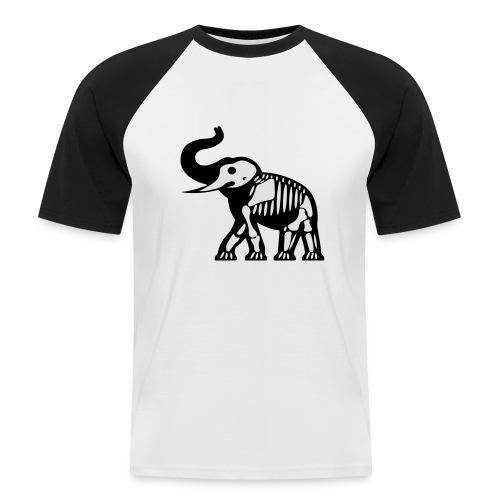 ElephantSquelette - T-shirt baseball manches courtes Homme
