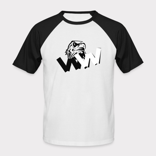 White and Black W with eagle - Men's Baseball T-Shirt