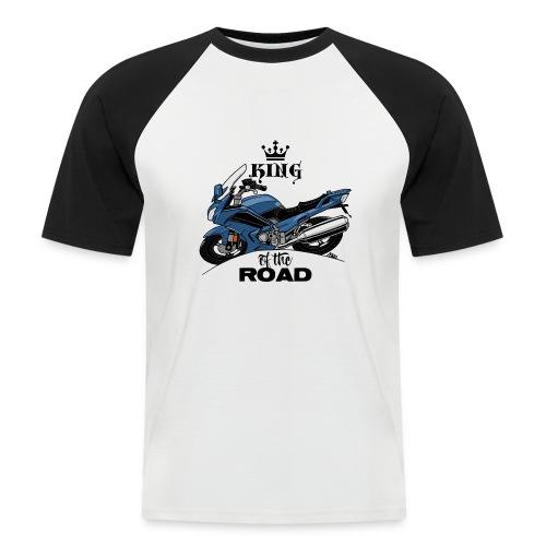 0885 FJR KING of the ROAD (blauw) - Mannen baseballshirt korte mouw