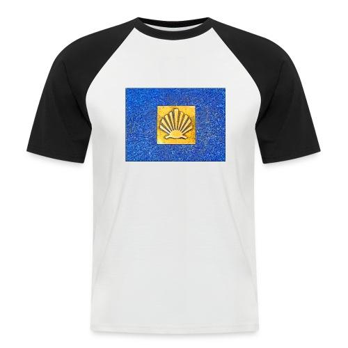 Scallop Shell Camino de Santiago - Men's Baseball T-Shirt