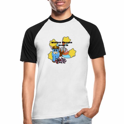 Une merveilleuse licorne est née (pour garcon) - T-shirt baseball manches courtes Homme