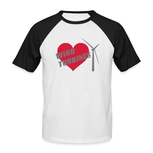 wind turbine grey - Men's Baseball T-Shirt