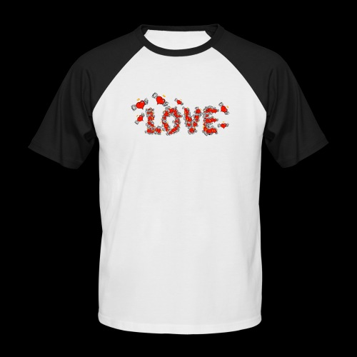 Flying Hearts LOVE - Kortærmet herre-baseballshirt