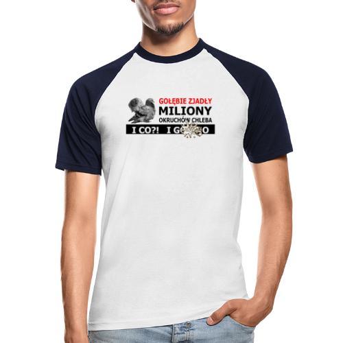 Gołębie zjadły Miliony - PIS wziął miliony - Koszulka bejsbolowa męska