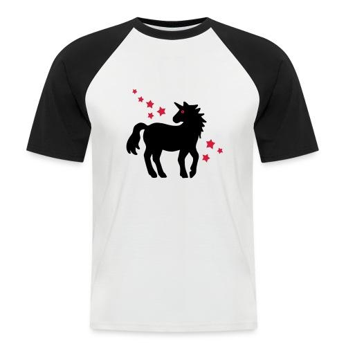 Einhorn - Männer Baseball-T-Shirt