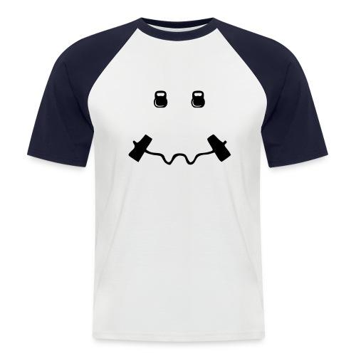 Happy dumb-bell - Mannen baseballshirt korte mouw