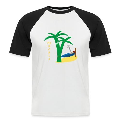 Mallorca - Urlaub unter Palmen - Männer Baseball-T-Shirt