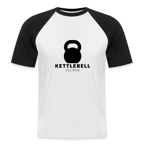 Kettlebell Deurne Logo Zwart - Mannen baseballshirt korte mouw