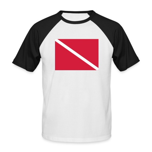 Diver Flag - Men's Baseball T-Shirt