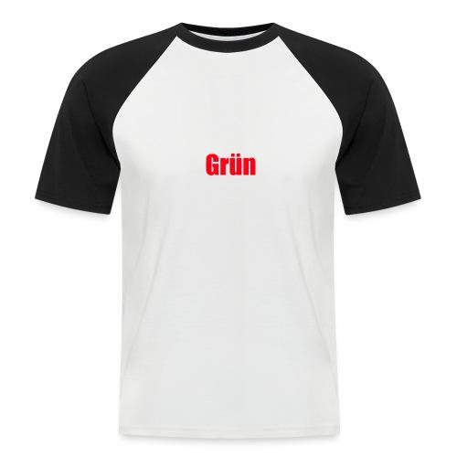 Grün - Männer Baseball-T-Shirt