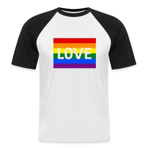 LOVE SHIRT - Kortærmet herre-baseballshirt