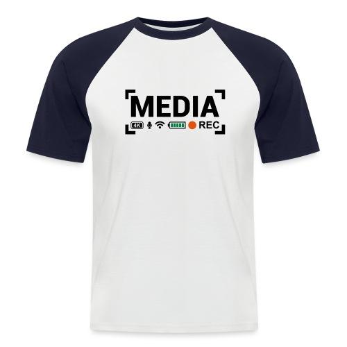 MEDIA Crew - Maglia da baseball a manica corta da uomo
