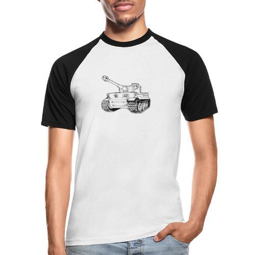 Tank Tiger - Maglia da baseball a manica corta da uomo