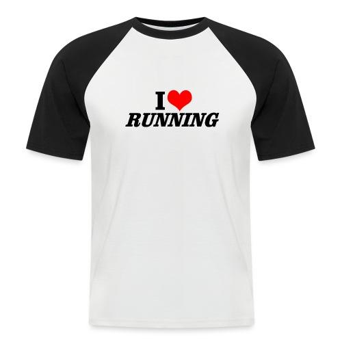 I love running - Männer Baseball-T-Shirt