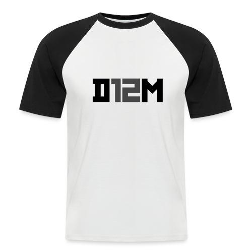 D12M: SHORT BLACK - Mannen baseballshirt korte mouw