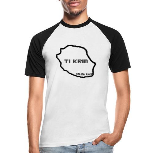 Ti krim - noir - T-shirt baseball manches courtes Homme