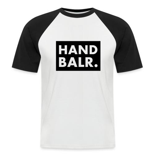 Handbalr Wit - Mannen baseballshirt korte mouw