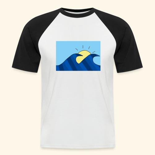 Espoir double wave - Men's Baseball T-Shirt