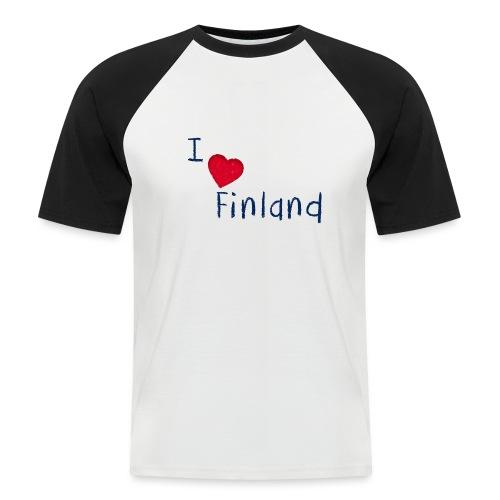 I Love Finland - Miesten lyhythihainen baseballpaita