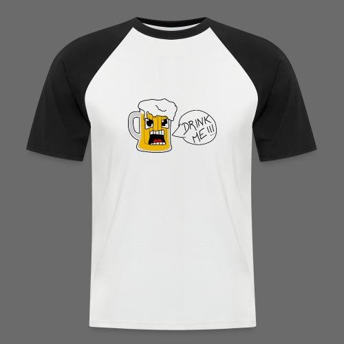 Bière - T-shirt baseball manches courtes Homme