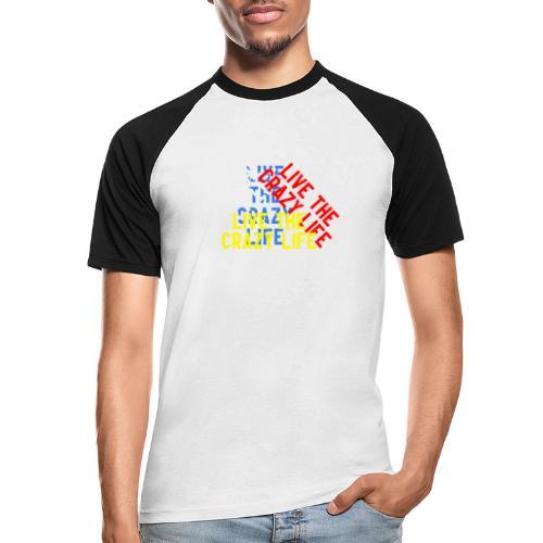 LIVE THE CRAZY LIFE - Camiseta béisbol manga corta hombre