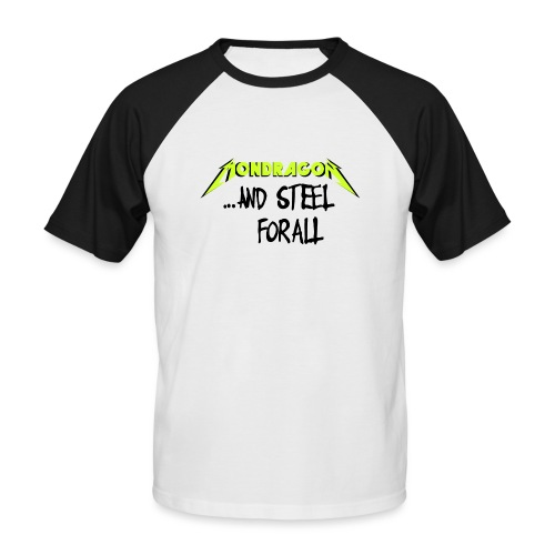 and steel for all text version - Camiseta béisbol manga corta hombre