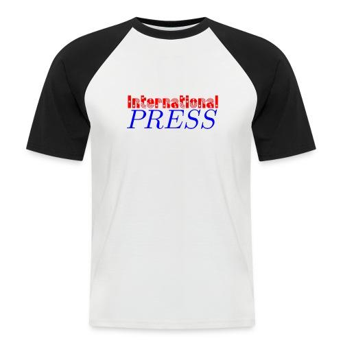 int_press-png - Maglia da baseball a manica corta da uomo