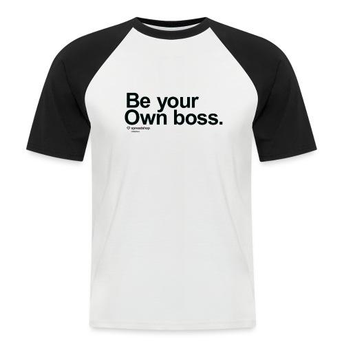 Boss in black - Men's Baseball T-Shirt