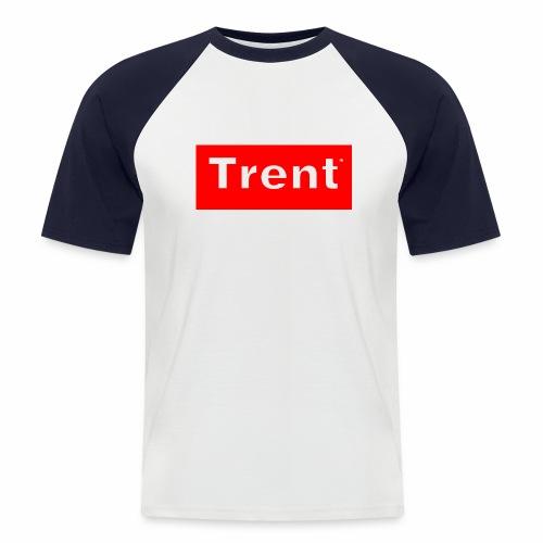TRENT classic red block - Men's Baseball T-Shirt