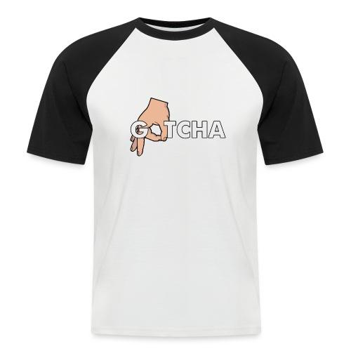 Gotcha Made You Look Funny Finger Circle Hand Game - Men's Baseball T-Shirt