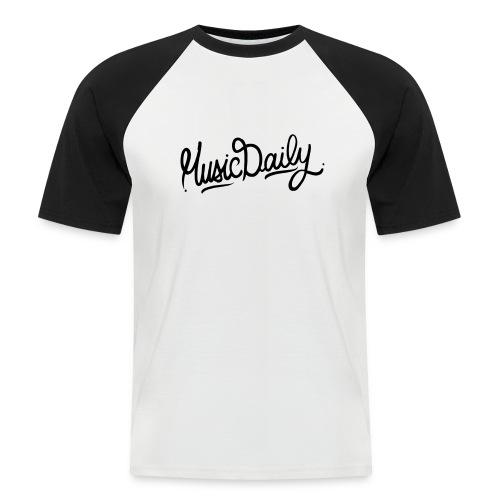 MusicDaily Logo - Mannen baseballshirt korte mouw