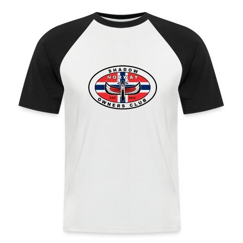 SHOC Norway Patch jpg - Kortermet baseball skjorte for menn