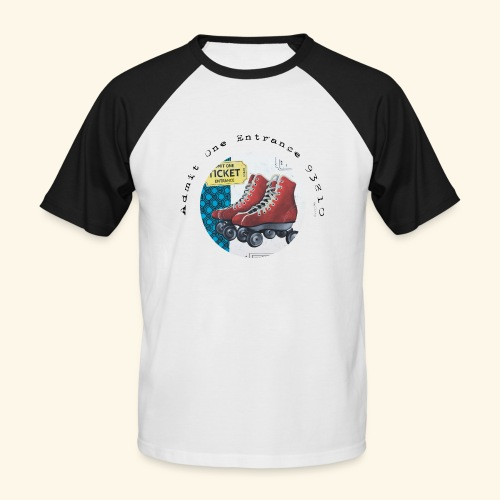 Admit One Ticket Entrance - T-shirt baseball manches courtes Homme