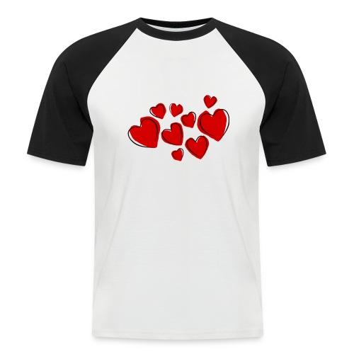 hearts herzen - Männer Baseball-T-Shirt