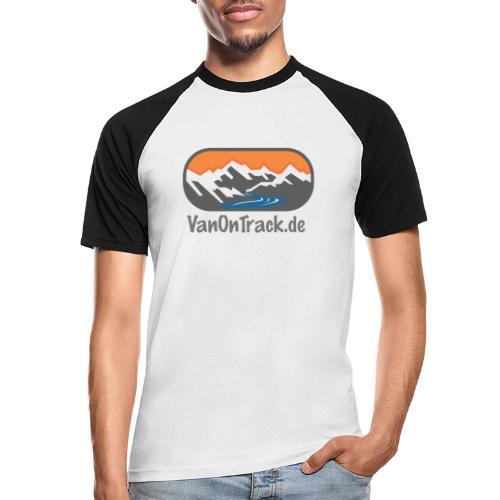 VanOnTrack Logo Berge, See und Freihet - Männer Baseball-T-Shirt