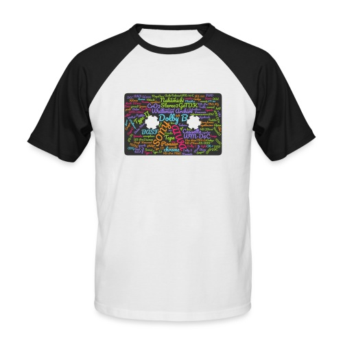 wordcloud Cassettes- WA - Men's Baseball T-Shirt