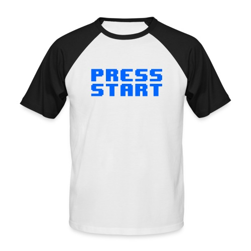 Press Start - Maglia da baseball a manica corta da uomo
