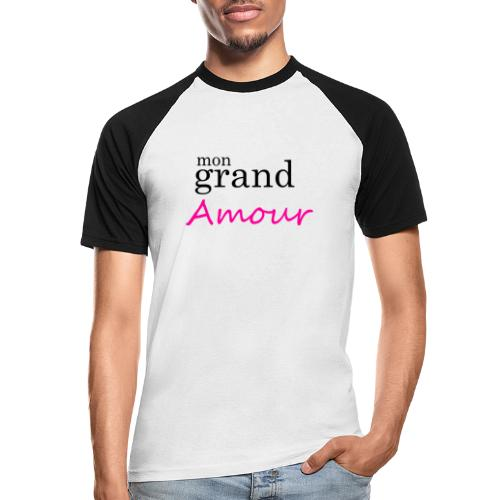 Mon grand amour - T-shirt baseball manches courtes Homme
