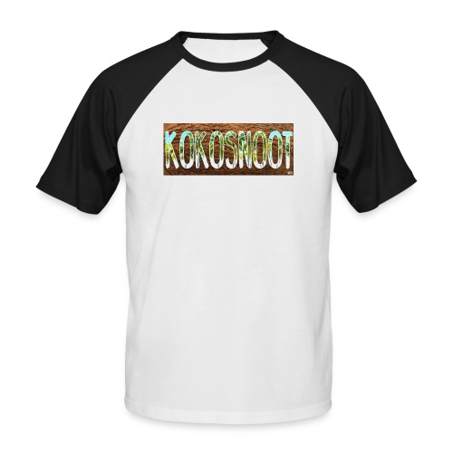 Kokosnoot - Mannen baseballshirt korte mouw
