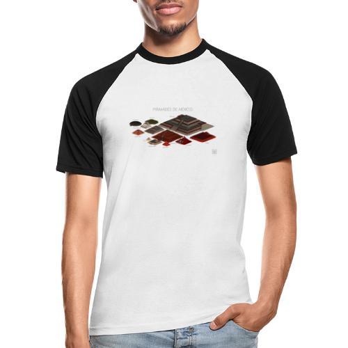 pyramides - T-shirt baseball manches courtes Homme