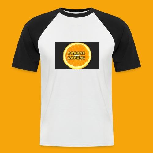 Orange_Logo_Black - Men's Baseball T-Shirt