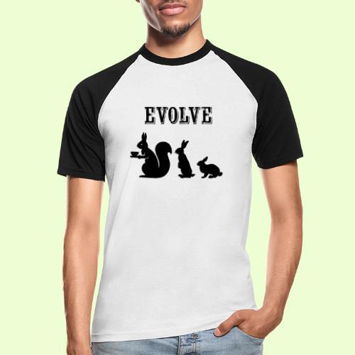 EvolveBunny - Mannen baseballshirt korte mouw
